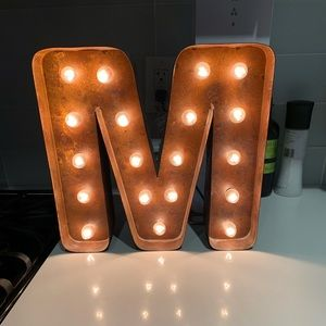 Metallic light up M